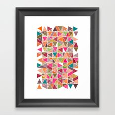 Roof Colorful Framed Art Print