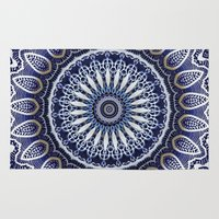 china Area & Throw Rugs featuring China Blue by Peter Gross
