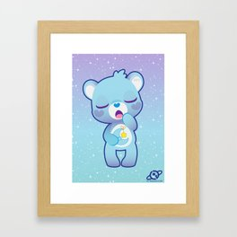 Bedtime bear Framed Art Print