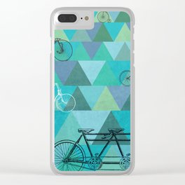 Tour de'Triangle Clear iPhone Case