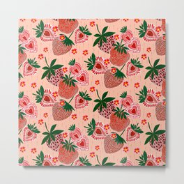 Strawberry Yum Metal Print