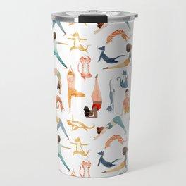Yoga People & Cats Travel Mug