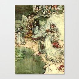 """Titania"" by Arthur Rackham From Shakespeare Canvas Print"