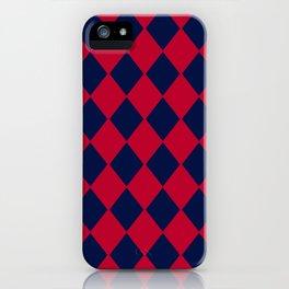 Red blue geometric pattern iPhone Case