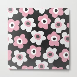 White and pink flowers Metal Print