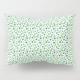 Lucky Watercolor Clovers Pillow Sham