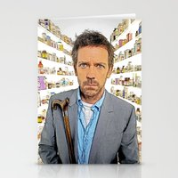 house md Stationery Cards featuring House MD - Colored Pencil Sketch Style by ElvisTR