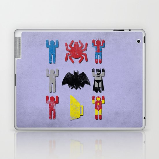 Super Heroic Minimalism Remix Laptop & iPad Skin