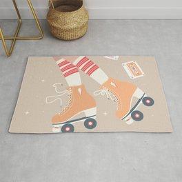 Roller skate girl 004 Rug
