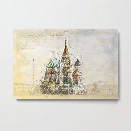 Saint Basil, Moscow Russia Metal Print