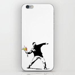 Banksy Flower Bomber iPhone Skin