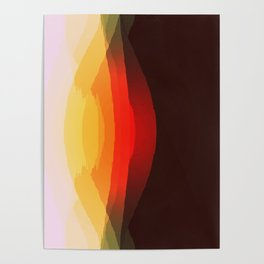 Warm Retro Abstract Poster