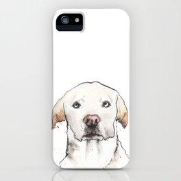 Inky Golden Labrador Retriever iPhone Case