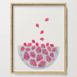 Magic Strawberries in the Bowl Serving Tray