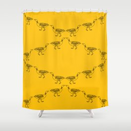 Marching Geese Shower Curtain