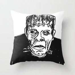 Frankenstein's Monster Throw Pillow