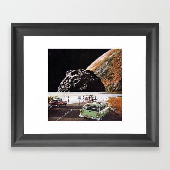 road closed Framed Art Print