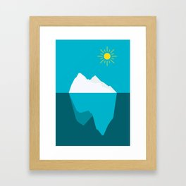 Iceberg on a sunny day / minimalist design / shapes Framed Art Print
