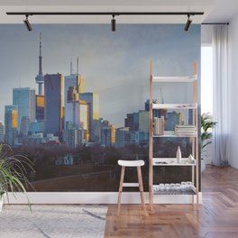 Transition to Blue Wall Mural