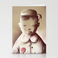orphan black Stationery Cards featuring The Orphan by Jacques Marcotte