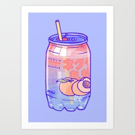 Peach Bubbles Art Print
