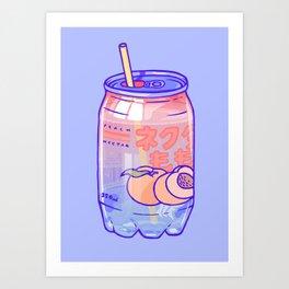 Peach Bubbles Art Print