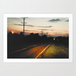 Night on Route 666 Art Print