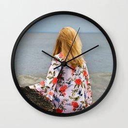 Gazing Redhead Wall Clock