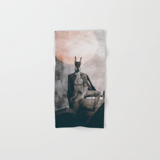 Watchdog in the moonlight Hand & Bath Towel