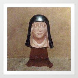 Nun Head Art Print