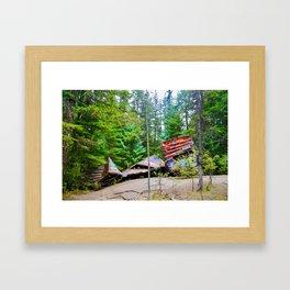 whistler train wreck, 2017 Framed Art Print