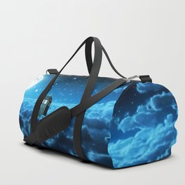 Tardis Cloud And Moon Duffle Bag