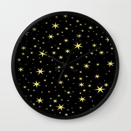 Hufflepuff Chapter Stars Wall Clock