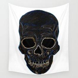 Neon Skull Wall Tapestry