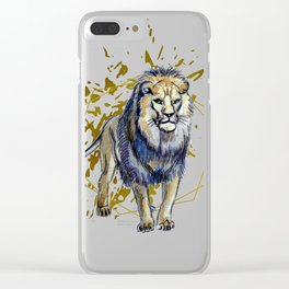 Mr Leo, the king of the jungle Clear iPhone Case