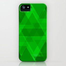 Bright green large triangles in the intersection and overlay. iPhone Case