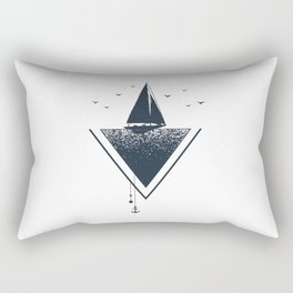 Ship. Geometric Style Rectangular Pillow