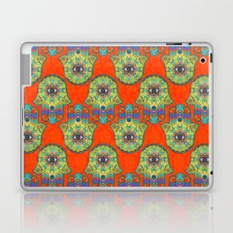 Colorful  Hamsa Hand pattern with paisley Laptop & iPad Skin
