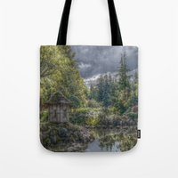 poland Tote Bags featuring Hortulus-Poland HDR by helsch photography