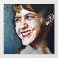 sylvia plath Canvas Prints featuring Sylvia Plath by Amy Wicherski