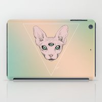 sphynx iPad Cases featuring SPHYNX. by paintparamore