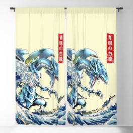 blue eyes white dragon Blackout Curtain