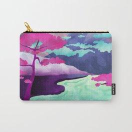 Purple Pastel Landscape Carry-All Pouch