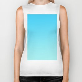 Simply sea blue teal color gradient - Mix and Match with Simplicity of Life Biker Tank
