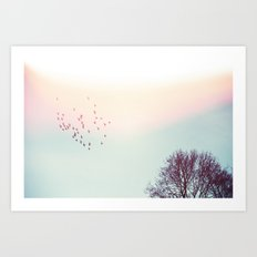 Away With The Birds Art Print