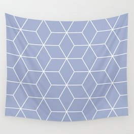 Blue and white geometric pattern Wall Tapestry