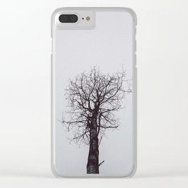 Grey Tree mood Clear iPhone Case