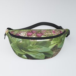 New England Wild Orchid Lady Slipper Flowers Fanny Pack