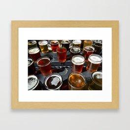 Beer Sampler Framed Art Print