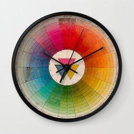 Color Wheel Vintage Antique Illustration Wall Clock